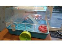 Hamster cage (large) and accessories
