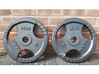 25KG OLYMPIC WEIGHT PLATES - 2 Inch holes