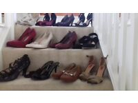 A collection of new and nearly new ladies shoes size 7 and 8
