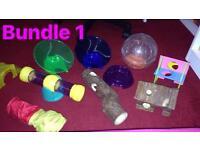 2 bundles of hamster toys