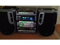 Aiwa stereo system with speakers excellent working order