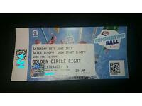 Gold circle capital summertime ball 1 x ticket