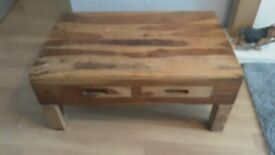 Solid wood tv unit and coffee table
