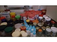 Loads of storage jars and Containers,for preserves, jams, crafts, arts