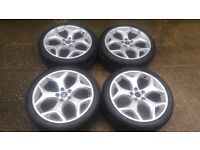 """18"""" GENUINE NEW STYLE FORD FOCUS ST ALLOY WHEELS TRANSIT CONNECT MONDEO 5 X 108"""