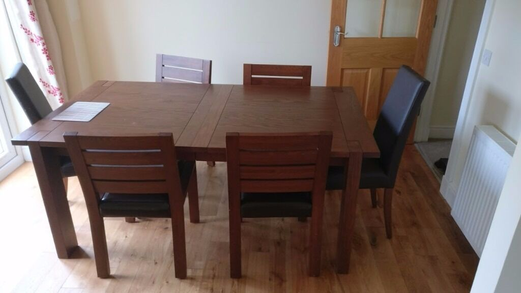 Large Marks And Spencer Sonoma Extending Dining Table With 6 Chairs