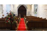 Red carpet runner for church aisle
