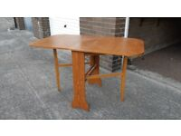 Retro wooden fold down dining table