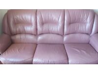 3 Piece Leather Suite - 3 seater & 2×1 seaters