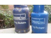 Empty calor gas bottle's