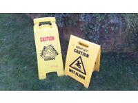 Wet Floor Signs.