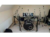 Premier artist birch kit with rack arms and cases