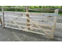 Gate - 5 Bar Wooden Gate - 10ft