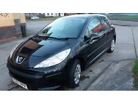 PEUGEOT 207 1.4 HDI 07 REG.2 FORMER ,MOT OCT.3 DR.BLACK,EXC.COND.HPI CLEAR.£30.P.A.ROAD TAX
