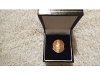 9ct gold st george ring