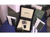 MENS DIAMOND AP ROYAL OAK CHRONOGRAPH GOLD FULLY ICED NEW WITH BOX BOOKS BAG