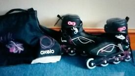 Teen roller blades size 39.5 only worn once