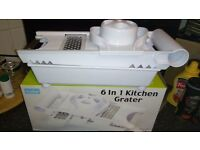 Betterware 6 in 1 kitchen grater, grates, slices, shreds, attachments for cheese, veg, fruit, etc