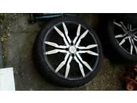 """4x100 4 x 100 17"""" alloy wheels & tyres off toyota honda nissan (4 stud)"""