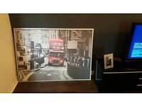 Large London bus canvas