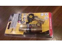 Yale 100mm Nickel Plated Brass Euro Cylinder Lock-Brand New