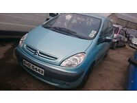 2003 CITROEN XSARA PICASSO SX, 2LT HDI, BREAKING FOR PARTS ONLY, POSTAGE AVAILABLE NATIONWIDE
