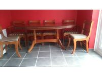 Extendable Table and 6 chairs