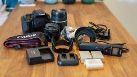 CANON 700D DSLR CAMERA & ACCESSORIES - including 2x lenses & spare batteries - EXCELLENT CONDITION