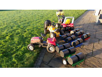 Toy tractor rolly ride on bale trailer 6 bales garden farm toy present