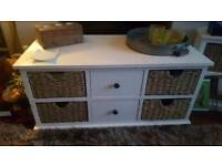 Dunelm solid coffee table with drawers 90x45cm
