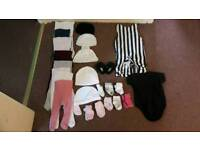 Bundle of baby girls clothes new born