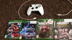 Xbox one controller with 4 games