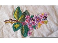 Hand embroidered tablecloth