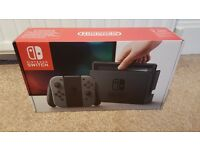 Nintendo Switch Console BRAND NEW & SEALED - Grey - UK 32 GB includes Joy Con Controllers IN STOCK