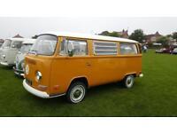 1972 VW Westy tin top camper van