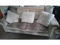 Laura Ashley Grey Velour Sofa