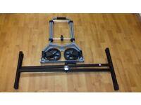 (£30) Aluminium Folding Trolley + Table Stand metal black.