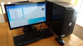 Dell Vostro 200 Desktop PC / Acer LED Monitor / Keyboard & Mouse