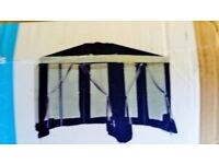 4MT X 4MT GAZEBO WITH MESH SIDE PANELS, BRAND NEW, UNOPENED BOX