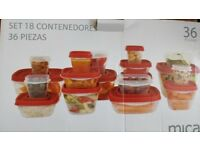 36 pieces kitchen containers