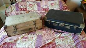 2 x Old Suitcases