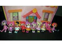 lala loopsy carry along house with dolls