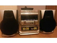 Philips 3 Disc CD mini hi-fi system with speakers