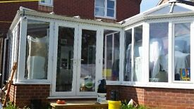 Glass Roof Conservatory P Shape