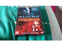 Alien,predator box set of 4 dvds