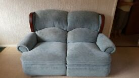 Reclining Sofa With Matching Footstool