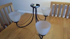 Three Arm Ceiling Light Fitting. Two Available.