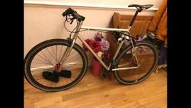 No Logo Fixie bike with pump, lock, lights and puncture proof tyres