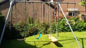 TP Triple Metal Swing Set
