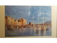 Harbour scene print and frame